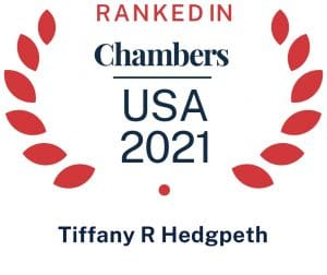 Tiffany R. Hedgpeth Ranked in Chambers & Partners USA 2021